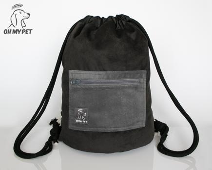 Plecak dwustronny; strona z czarnego materiału
