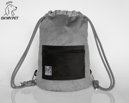 Plecak dwustronny: strona z szarego materiału